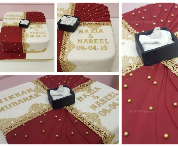 Asian Engagement Cake