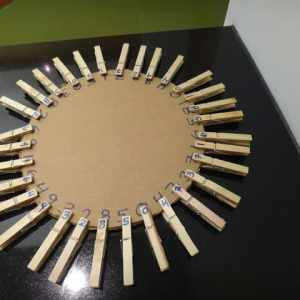 DIY clothespin wheel