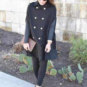 SHEIN SCALLOPED COAT