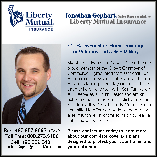 Jonathan Gephart, Liberty Mutual Insurance