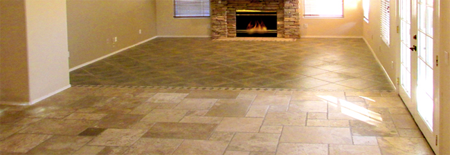 Natural color Travertine floor and stone patterned flooring - Stone Flooring, Travertine Floors - Bill Salvatore, Arizona Elite Properties 602-999-0952
