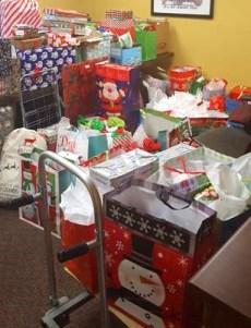 Brightly wrapped Christmas gifts - Gilbert Arizona Adopt a Senior, charitable progrm, holiday giving - Bill Salvatore, Arizona Elite Properties 602-999-0952 - Arizona Real Estate
