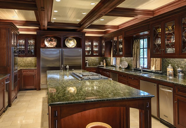 "Gourmet kitchen with granite and stainless - North Dallas mansion featured in the TV show ""Dallas"" via RIS Media - Bill Salvatore, Arizona Elite Properties 602-999-0952 - Arizona Real Estate"