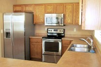 New Stainless Refrigerator, stove/oven and microwave - 353 E Jasper Dr, Chandler Arizona - open kitchen - Bill Salvatore, Arizona Elite Properties 602-999-0952 - Arizona Real Estate