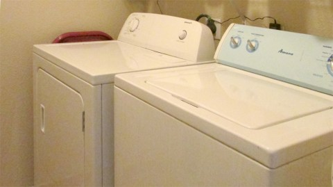 White top loading washer and front loading dryer - Red ROX Condominium, 5401 E Van Buren St, Phoenix AZ - Unit #3002 Washer, dryer and refrigerator included - Bill Salvatore, Arizona Elite Properties 602-999-0952 - Arizona Real Estate