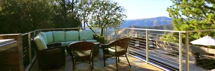 Valley and mountain view from exterior deck/patio - Photo courtesy of Carlo Alberto Orecchia on Vimeo - - Jane Fonda's Hollywood Estate for Sale - Photos via RIS Media - Bill Salvatore, Arizona Elite Properties 602-999-0952 - Arizona Real Estate