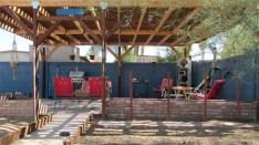 view across garden area to patio - Large lot, great patio - 161 N 88th Place, Mesa AZ - Bill Salvatore, Arizona Elite Properties - Mesa Arizona property for sale