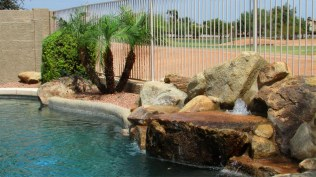 37 back pool water feature