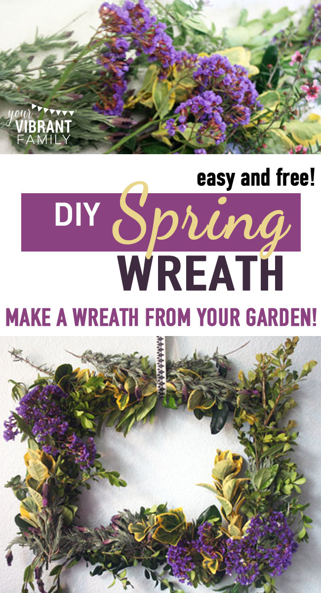Don't you love the look of a fresh spring wreath on your front door? But did you know that you can make your own fresh spring door wreath--for basically FREE. That's right! No more super-expensive pre-made fresh wreaths or cheesy fake flower ones. Make your own for cheap!! In fact, they're so easy that you'll want to make several of these wreaths to brighten your home! Check out this simple, four-step tutorial with everything you'll need!