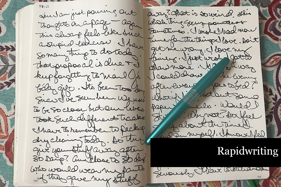 How to Journal - Rapidwriting