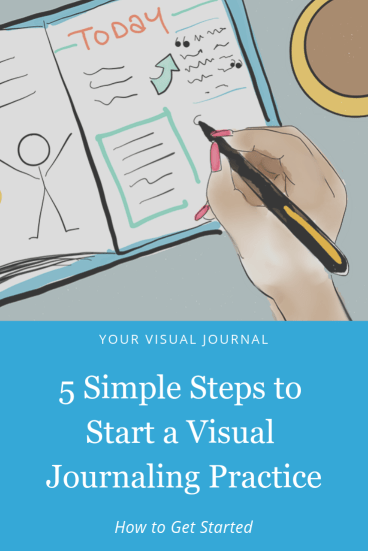 5 Simple Steps to Start a Visual Journaling Practice. We've broken this down to make it easy and simple!