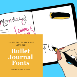 Take the headers in your Bullet Journal to the next level with these easy to draw fonts