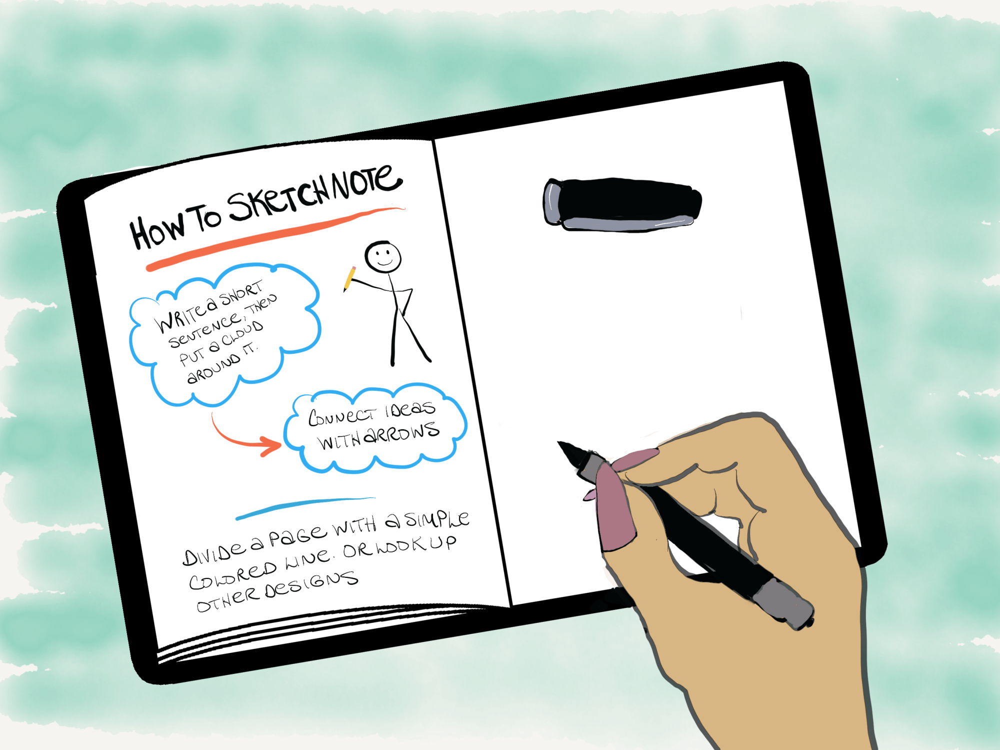 How to sketchnote even if you are not an artist