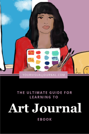 Ebook Cover The Ultimate Guide For Learning to Art Journal