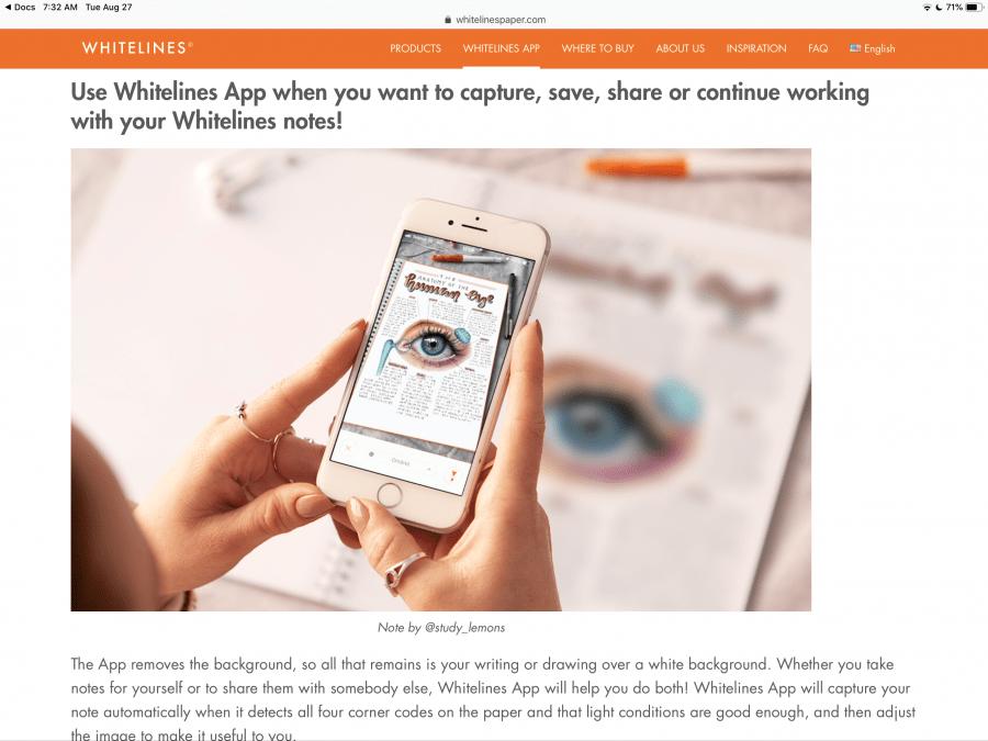 Whitelines Journal and App