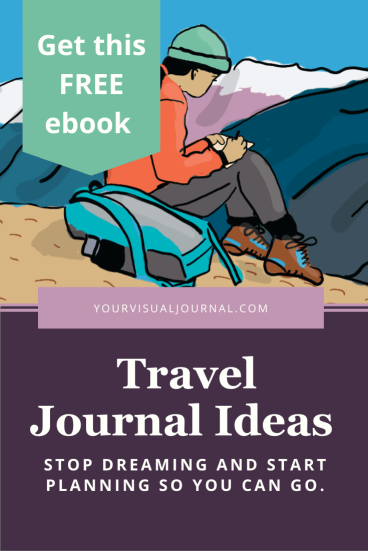 This ebook is full of travel journal ideas. It dives deep into setting up a travel journal, the types of journals available, and portable journal supplies. It even includes links to tutorials, in case you'd like some video coaching.