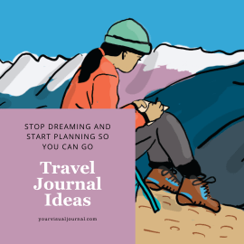 There's a romance to travel journals. They invoke the same feelings as leather bound books filled with adventures. Ink and paper add a dimension to journaling that notes on a smartphone just don't capture. You can capture your own journeys with just as much romance.