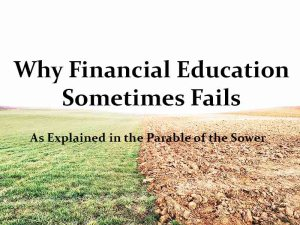 why financial education fails