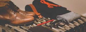 clothes shoes wallet belt glasses