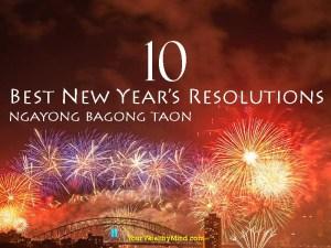 10 Best New Year's Resolutions ngayong Bagong Taon