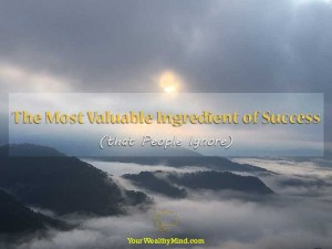 The Most Valuable Ingredient of Success (that People Ignore)
