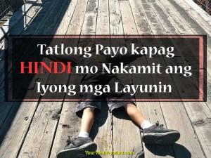 Tatlong Payo kapag Hindi mo Nakamit ang Iyong mga Layunin - Your Wealthy Mind