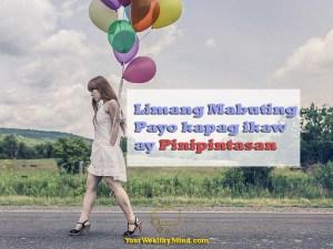 Limang Mabuting Payo kapag ikaw ay Pinipintasan - Your Wealthy Mind