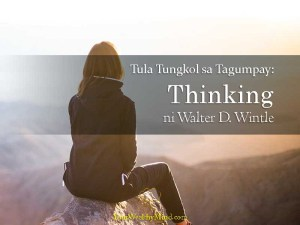 Tula Tungkol sa Tagumpay Thinking ni Walter D Wintle Your Wealthy Mind