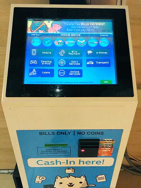 gcash touchpay machine