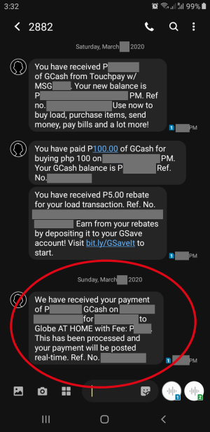 gcash bills paid receipt