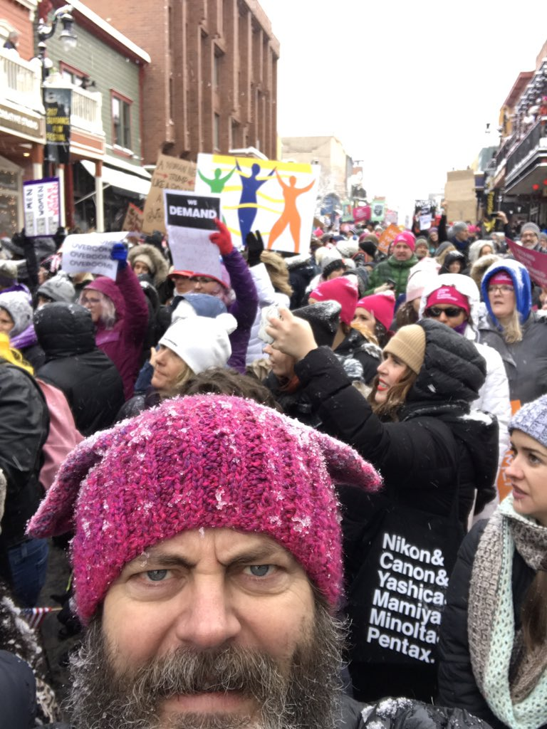 I'm a nasty girl #WomensMarch ~ Nick Offerman (actor) on twitter