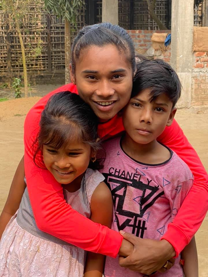 Hima Das with Twin Brother sister