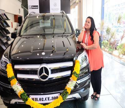 Bharti Singh With Her Mercedes Benz