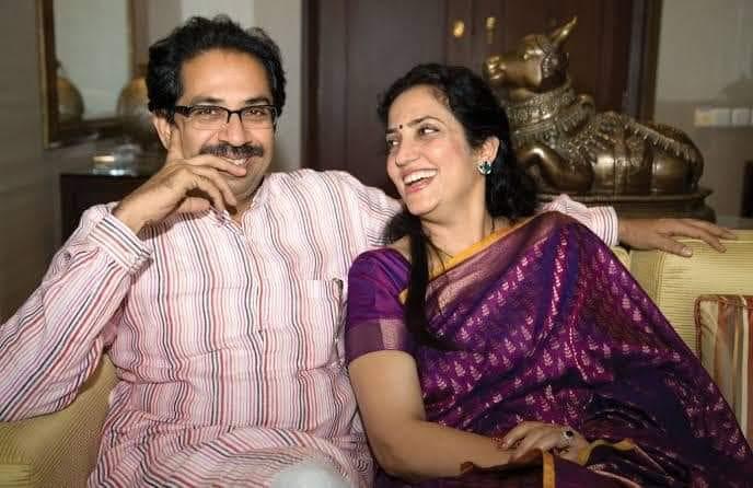 Rashmi Thackeray with her Husband Uddhav Thackeary