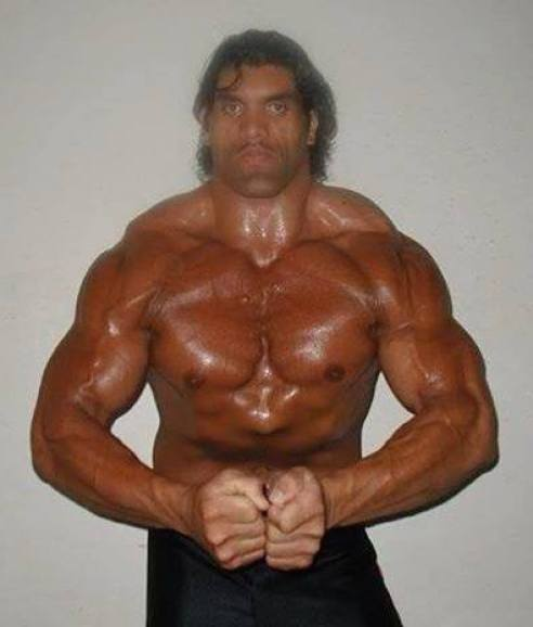 The Great Khali won Mr. India Bodybuilding Title in 1995 & 1996