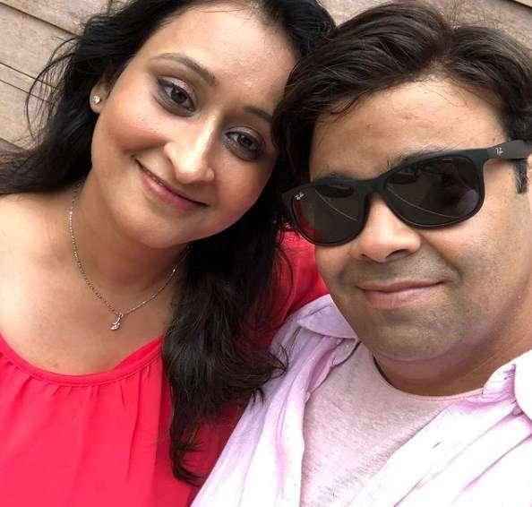 kiku sharda with his wife Priyanka Sharda