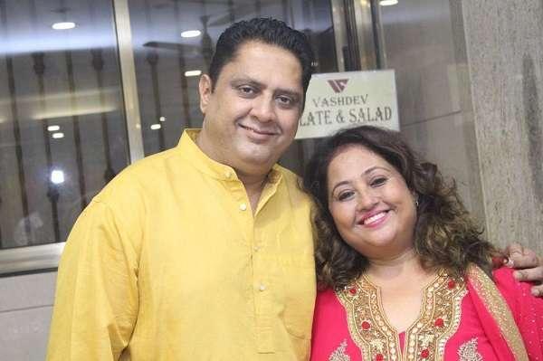 Sanjay B Jumaani with his sister Swetta Jumaani