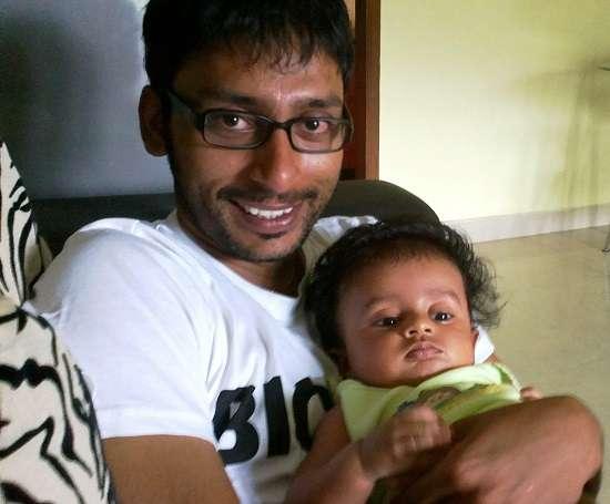 RJ Balaji with his son Mahanth D Balaji