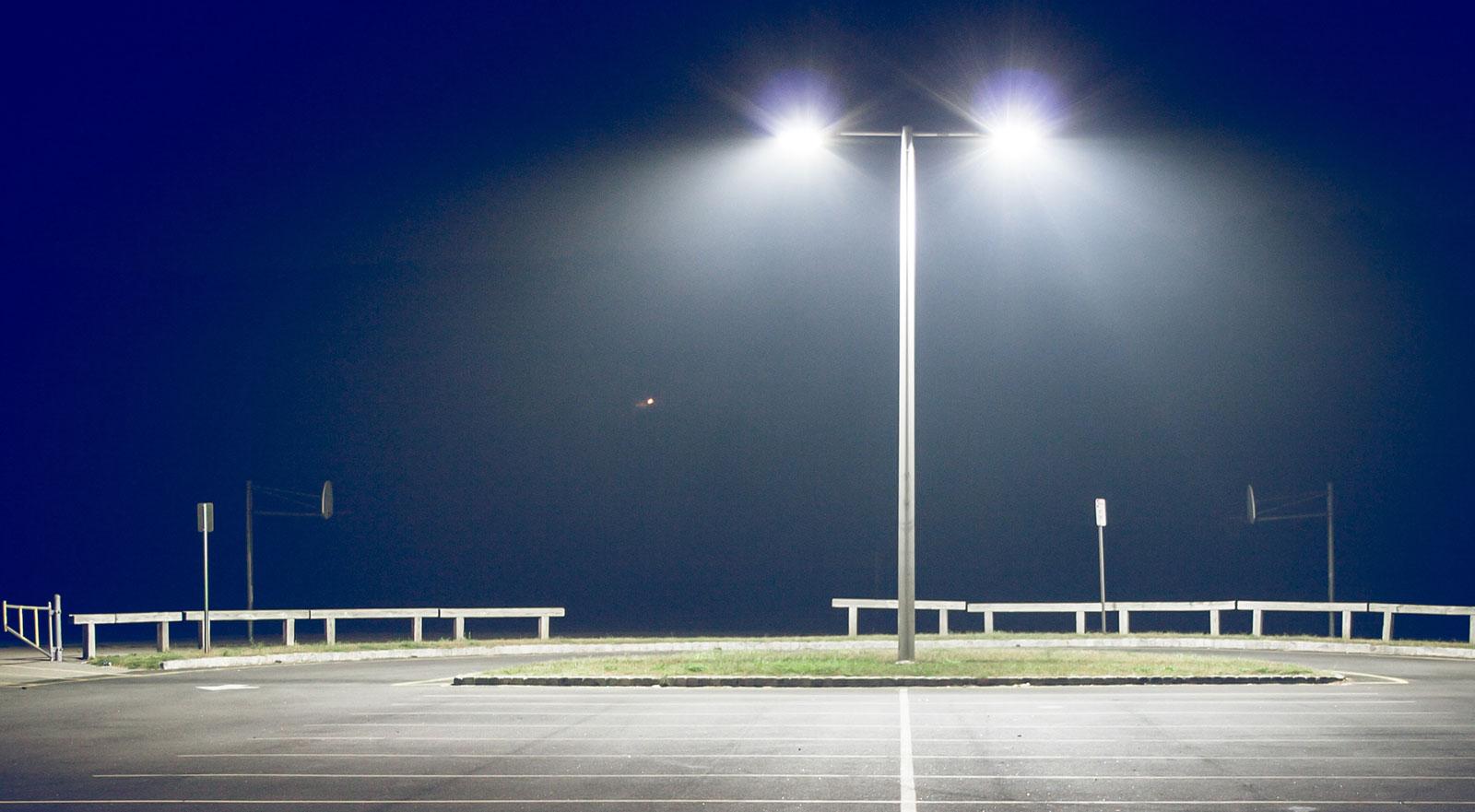 led lighting retrofits for parking lots and garages installed fast
