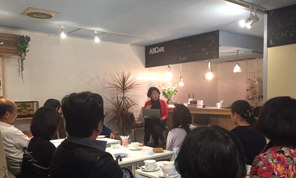 京都のSalon ABCafeでのソロトーク