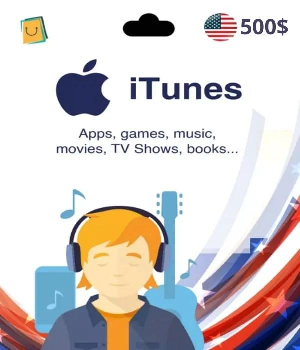 Carte App Store & iTunes 500$ USA