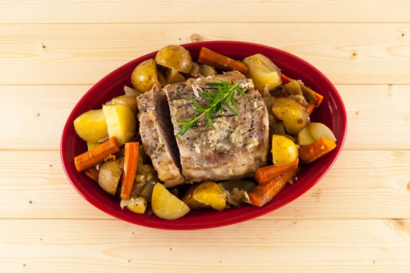 Slowcooker Pork Loin and Roasted Vegetables | YouShouldCraft.com