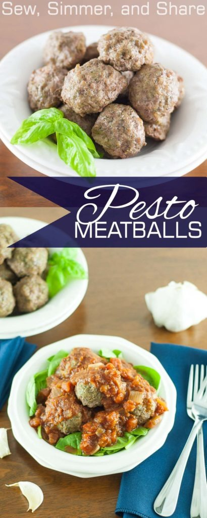 Pesto Meatballs + What I'm Eating on #Whole30 | YouShouldCraft.com #paleo