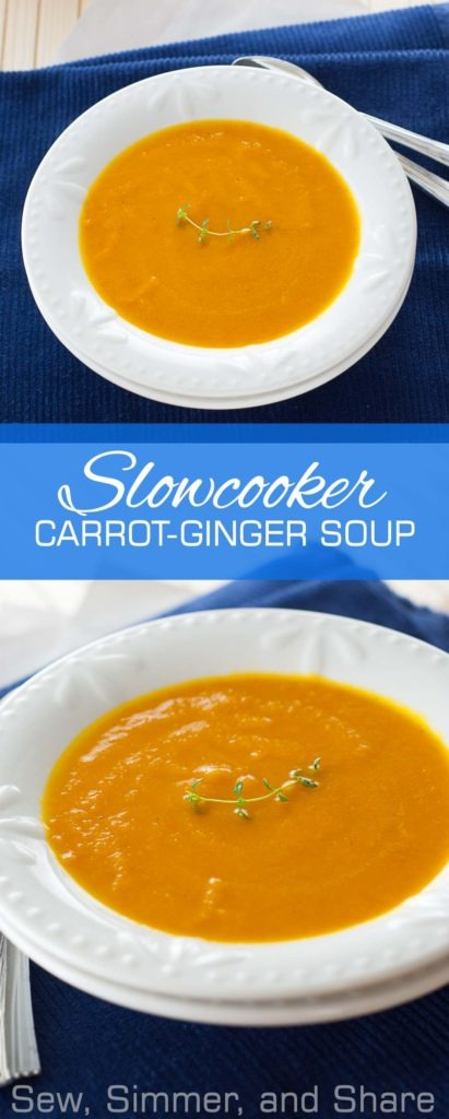 #Slowcooker Carrot-Ginger Soup + What I'm Eating on #Whole30 | YouShouldCraft.com #paleo