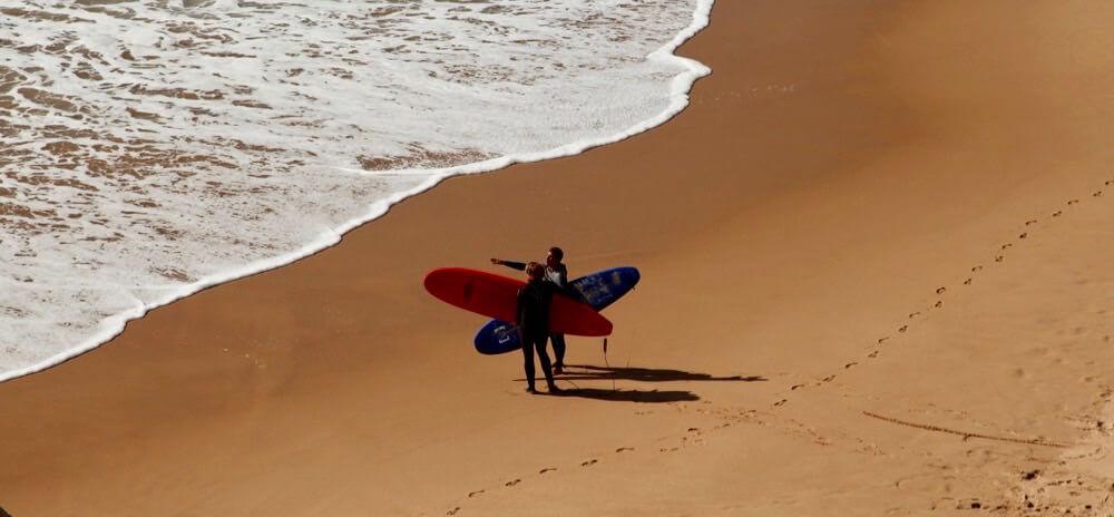 Praia do Amado surfers