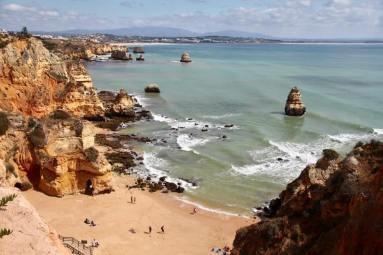 Praia do Camilo beachgoers