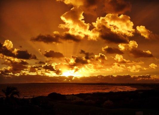 Pousada del Faro bedroom sunset