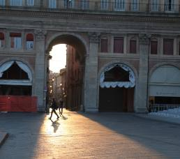 Bologna sunset arch