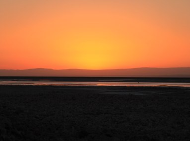 Salar de Atacama valley floor sunset