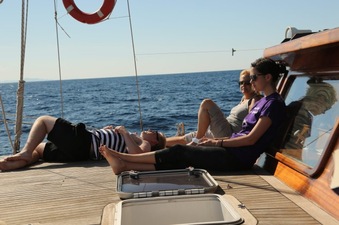 Queen of the Adriatic relaxing